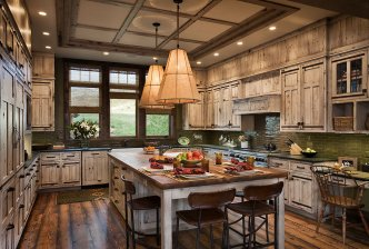 Interior, horizontal, kitchen, Valley Garden Ranch, McAllister, Montana; Design Associates; Blue Ribbon Builders