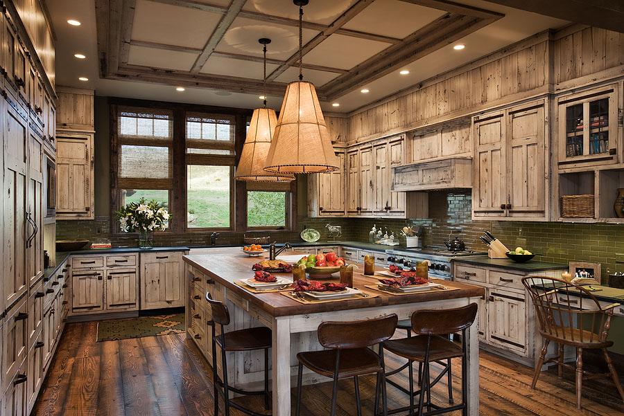 Interior, horizontal, kitchen, Valley Garden Ranch, McAllister, Montana; Design Associates; Blue Ribbon Builders