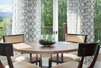 Interior, vertical, breakfast area, Ungersma residence, Bozeman, Montana; Design Associates